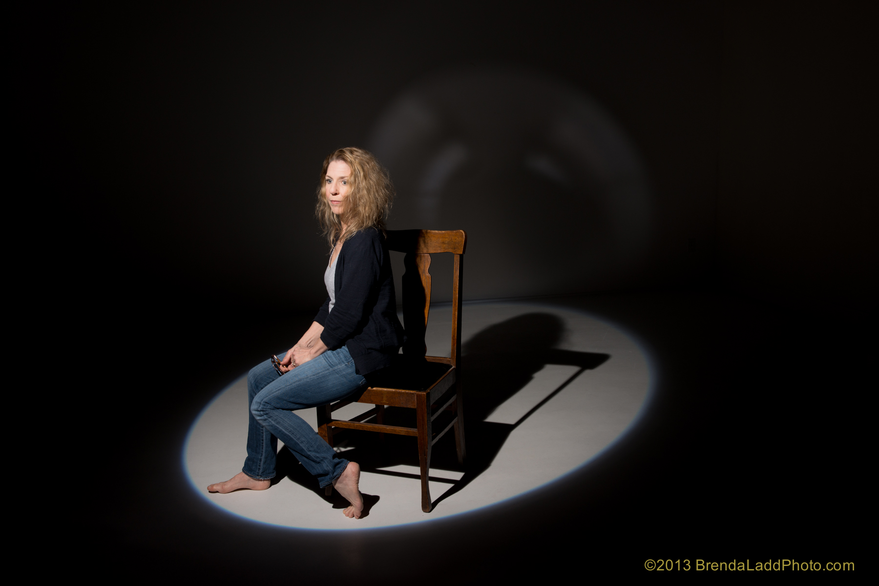 Suzi spot chair in jeans